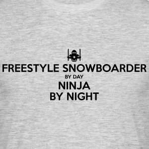 freestyle snowboarder day ninja by night - Men's T-Shirt