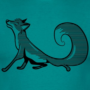 Fox funny vain striped T-Shirts - Men's T-Shirt
