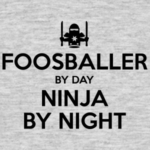 foosballer day ninja by night - Men's T-Shirt