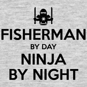 fisherman day ninja by night - Men's T-Shirt