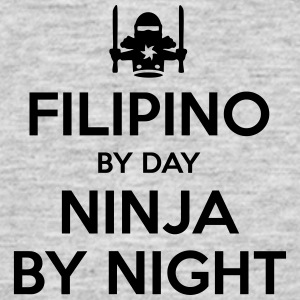 filipino day ninja by night - Men's T-Shirt