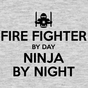 fire fighter day ninja by night - Men's T-Shirt