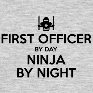 first officer day ninja by night - Men's T-Shirt