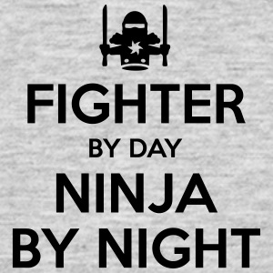 fighter day ninja by night - Men's T-Shirt