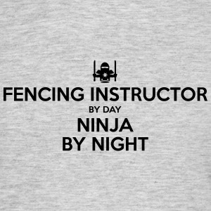 fencing instructor day ninja by night - Men's T-Shirt