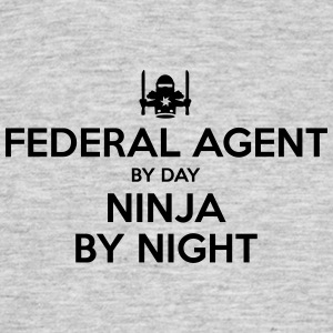 federal agent day ninja by night - Men's T-Shirt