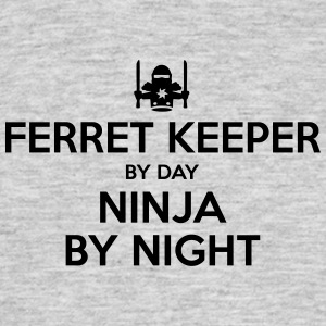 ferret keeper day ninja by night - Men's T-Shirt