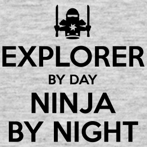 explorer day ninja by night - Men's T-Shirt