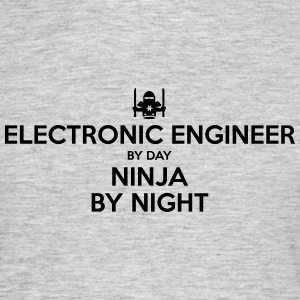 electronic engineer day ninja by night - Men's T-Shirt