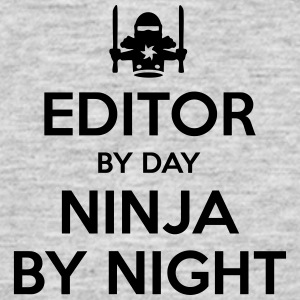 editor day ninja by night - Men's T-Shirt