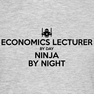 economics lecturer day ninja by night - Men's T-Shirt