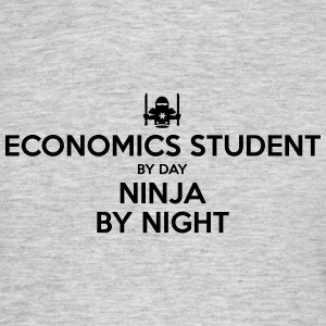economics student day ninja by night - Men's T-Shirt