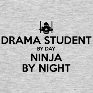 drama student day ninja by night - Men's T-Shirt