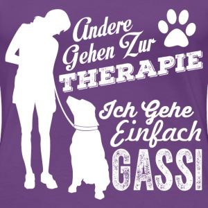 Dog-walking instead of therapy T-Shirts - Women's Premium T-Shirt