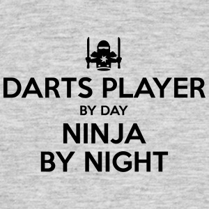 darts player day ninja by night - Men's T-Shirt
