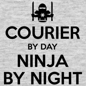 courier day ninja by night - Men's T-Shirt