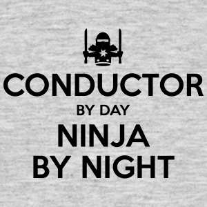 conductor day ninja by night - Men's T-Shirt