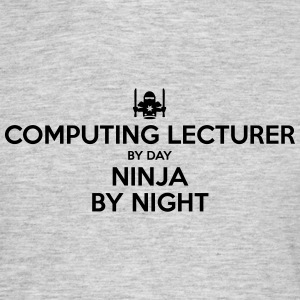 computing lecturer day ninja by night - Men's T-Shirt