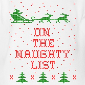On the naughty list Baby Bodysuits - Organic Short-sleeved Baby Bodysuit