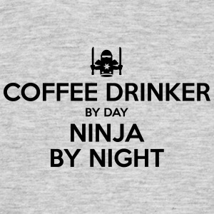 coffee drinker day ninja by night - Men's T-Shirt
