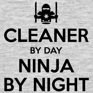 cleaner day ninja by night - Men's T-Shirt