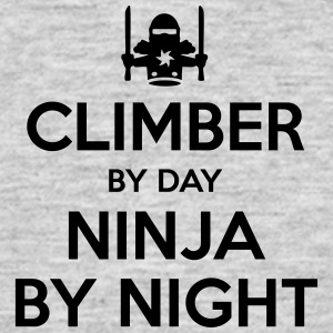 climber day ninja by night - Men's T-Shirt