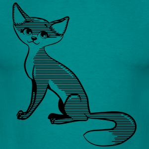 Fox zitting zoet T-shirts - Mannen T-shirt