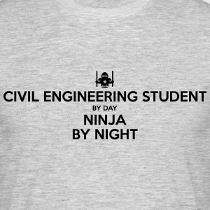 civil engineering student day ninja by n - Men's T-Shirt