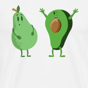 Avocado and Pear Gym Workout Fitness Health - Men's Premium T-Shirt