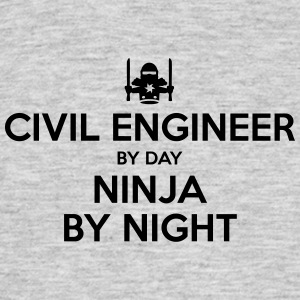 civil engineer day ninja by night - Men's T-Shirt