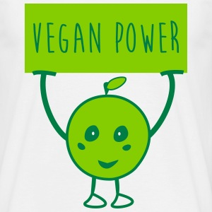 t-shirt Vegan Power - T-shirt herr