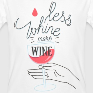 Less Whine more Wine T-shirts - Mannen Bio-T-shirt