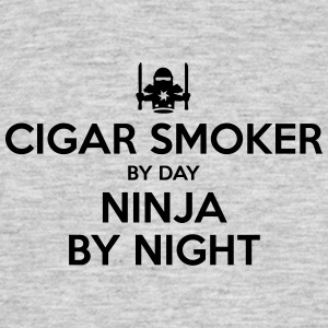 cigar smoker day ninja by night - Men's T-Shirt