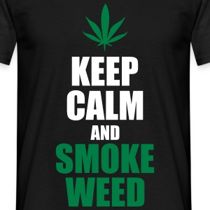 Keep calm and smoke weed  - Men's T-Shirt