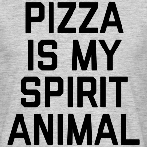 Pizza Spirit Animal Funny Quote T-shirts - Herre-T-shirt