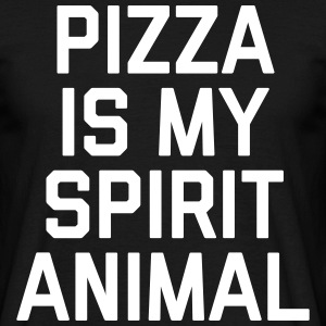Pizza Spirit Animal Funny Quote T-shirts - T-shirt herr