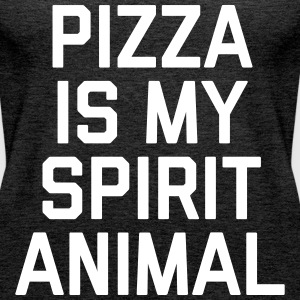 Pizza Spirit Animal Funny Quote Tops - Vrouwen Premium tank top