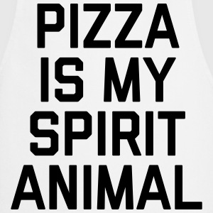 Pizza Spirit Animal Funny Quote Kookschorten - Keukenschort
