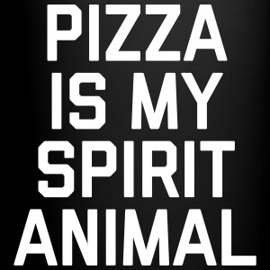 Pizza Spirit Animal Funny Quote Mugs & Drinkware - Full Colour Mug