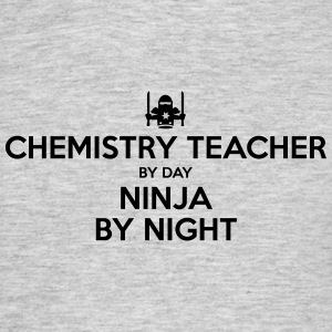 chemistry teacher day ninja by night - Men's T-Shirt