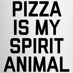 Pizza Spirit Animal Funny Quote Mugs & Drinkware - Mug