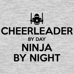 cheerleader day ninja by night - Men's T-Shirt