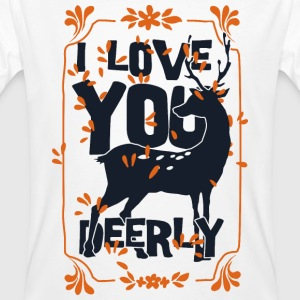 I love you deerly- Liebe Hirsch Reh Tier Tee shirts - T-shirt bio Homme