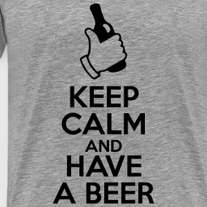t-shirt keep calm and have a beer  - T-shirt Premium Homme
