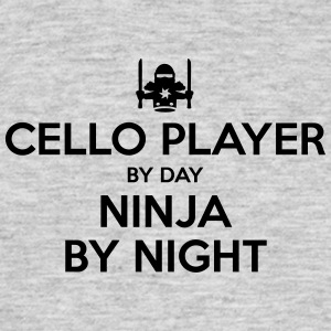 cello player day ninja by night - Men's T-Shirt