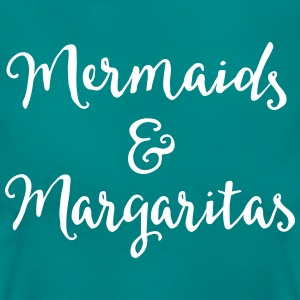 Mermaids & Margaritas Funny Quote T-shirts - Dame-T-shirt