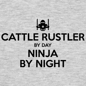 cattle rustler day ninja by night - Men's T-Shirt