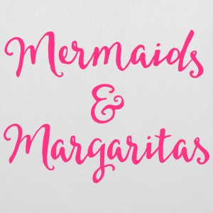 Mermaids & Margaritas Funny Quote Bags & Backpacks - Tote Bag