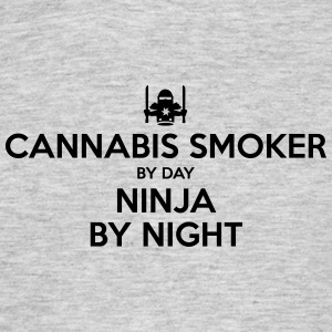 cannabis smoker day ninja by night - Men's T-Shirt
