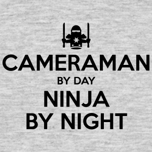 cameraman day ninja by night - Men's T-Shirt